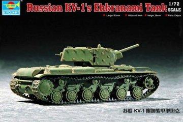 Soviet KV-1S Ehkranami · TRU 07230 ·  Trumpeter · 1:72