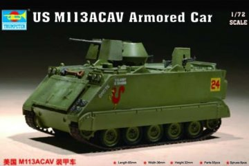 US M 113 ACAV Armored Car · TRU 07237 ·  Trumpeter · 1:72