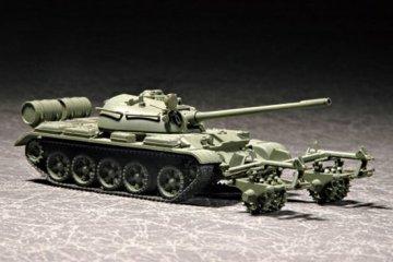 T-55 with KMT-5 · TRU 07283 ·  Trumpeter · 1:72