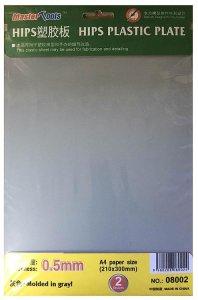 HIPS 0,5mm Plastikplatten (210x300mm) - 2 Stück · TRU 08002 ·  Trumpeter