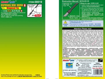 Disposable Mini Diagonal Brush (10 Stück) · TRU 08019 ·  Trumpeter