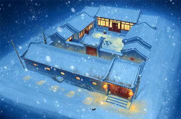 Beijing Siheyuan (courtyard house) · TRU 09001 ·  Trumpeter · 1:100