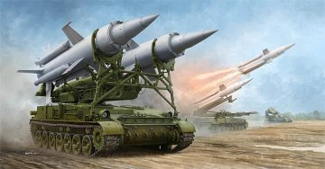 Soviet 2K11A TEL w/9M8M MissileKrug-a (SA-4 Ganef) · TRU 09523 ·  Trumpeter · 1:35