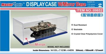 Display Case w/Mirror Base 364x186x121mm WxLxH · TRU 09852 ·  Trumpeter