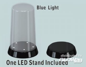 Round top Display case-Led stand (84x185mm) · TRU 09863 ·  Trumpeter