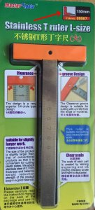 Stainless T Ruler L-size · TRU 09987 ·  Trumpeter