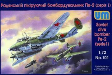 Dive Bomber Pe-2 (early series) · UM 101 ·  Unimodels · 1:72