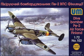Dive Bomber Pe-2 · UM 102 ·  Unimodels · 1:72