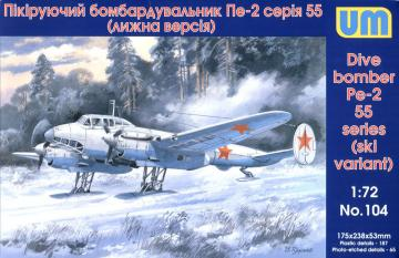 Dive Bomber Pe-2 · UM 104 ·  Unimodels · 1:72