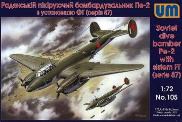 Dive Bomber Pe-2 with FT (87 series) · UM 105 ·  Unimodels · 1:72