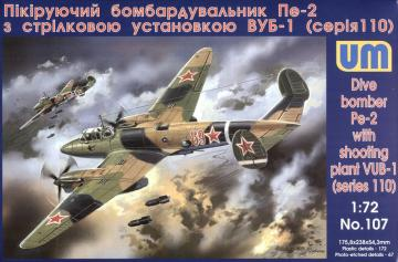 Dive Bomber Pe-2 · UM 107 ·  Unimodels · 1:72