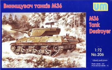 M36 tank destroyer · UM 206 ·  Unimodels · 1:72