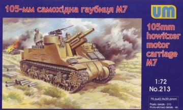 M7 105mm howizter motor carriage · UM 213 ·  Unimodels · 1:72