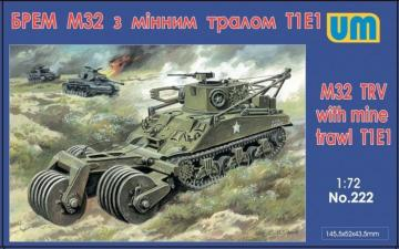 M32 tank recovery vehicle with mine traw · UM 222 ·  Unimodels · 1:72