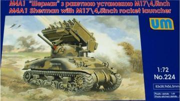 Tank M4A1 w. M17/4,5inch rocket launcher · UM 224 ·  Unimodels · 1:72