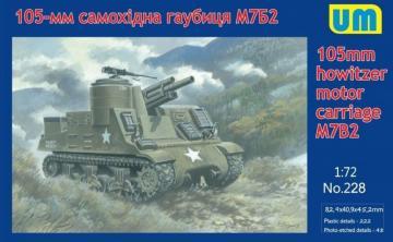 M7B2 105mm Howitzer Motor Carriage · UM 228 ·  Unimodels · 1:72