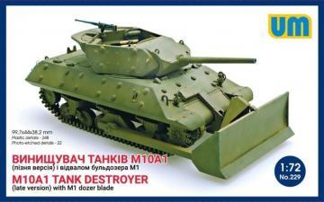 M10A1 tank destroyer (late)with M1 dozer blade · UM 229 ·  Unimodels · 1:72