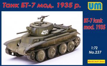BT-7 tank mod.1935 · UM 237 ·  Unimodels · 1:72