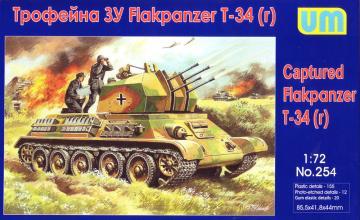 Captured Flakpanzer T-34r · UM 254 ·  Unimodels · 1:72