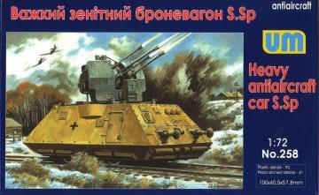 Heavy antiaircraft car S.Sp · UM 258 ·  Unimodels · 1:72
