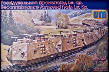 Reconnaissance armored train Le.Sp · UM 261 ·  Unimodels · 1:72