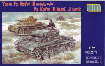 Pz.Kpfw III Ausf.J.German tank · UM 271 ·  Unimodels · 1:72