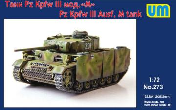 Pz.Kpfw III Ausf.M · UM 273 ·  Unimodels · 1:72