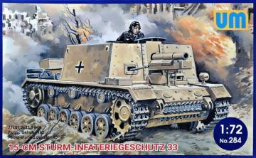 15cm Sturm-Infateriegeschutz 33 · UM 284 ·  Unimodels · 1:72
