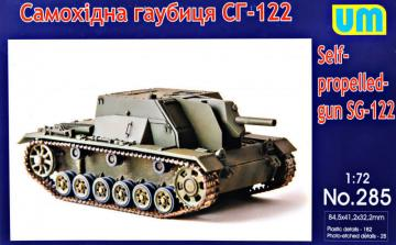 SG-122 self-proppeled gun · UM 285 ·  Unimodels · 1:72