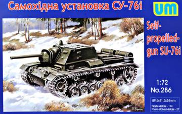 SU-76I self-propelled gun · UM 286 ·  Unimodels · 1:72