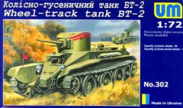 Wheel-track Tank BT-2 · UM 302 ·  Unimodels · 1:72