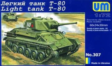 Light Tank T-80 · UM 307 ·  Unimodels · 1:72