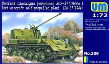ZSU-37 (1944) Anti-Aircraft self propelled plant · UM 309 ·  Unimodels · 1:72