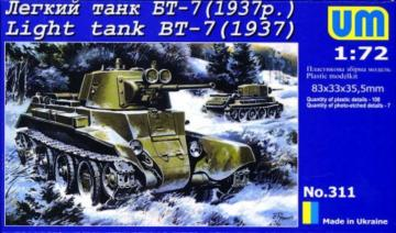 Light Tank BT-7 (1937) · UM 311 ·  Unimodels · 1:72