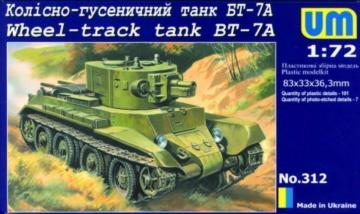 Wheel-Track tank BT-7A · UM 312 ·  Unimodels · 1:72