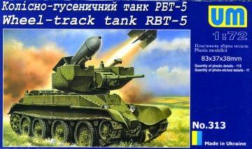 Wheel-track Tank RBT-5 · UM 313 ·  Unimodels · 1:72