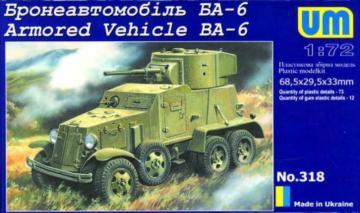 Armored Vehicle BA-6 · UM 318 ·  Unimodels · 1:72