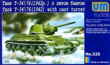 Panzer T-34/76 (1942) · UM 325 ·  Unimodels · 1:72