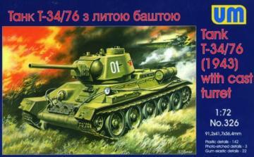 T-34/76 (1943) · UM 326 ·  Unimodels · 1:72