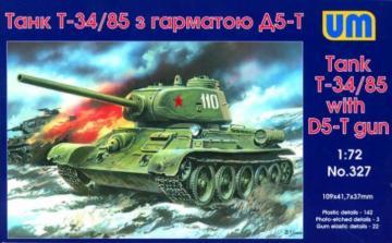 T-34/85 with D5-T gun · UM 327 ·  Unimodels · 1:72
