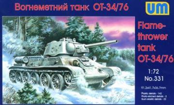 OT-34/76 Flamethrower Tank · UM 331 ·  Unimodels · 1:72