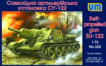 SU-122 Self-propelled Gun · UM 332 ·  Unimodels · 1:72