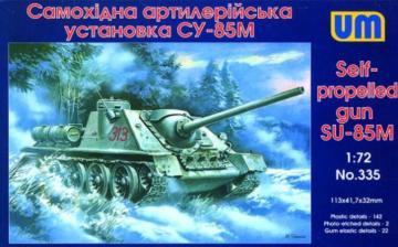 Self-propelled Gun SU-85M · UM 335 ·  Unimodels · 1:72
