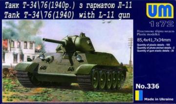 T-34/76 with gun L-11 (1940) · UM 336 ·  Unimodels · 1:72
