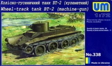 Wheel-Track Tank BT-2 with machine-Gun · UM 338 ·  Unimodels · 1:72