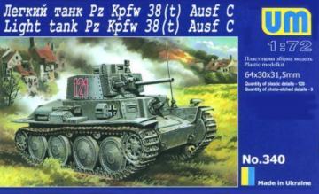 PzKpfw.38(t) · UM 340 ·  Unimodels · 1:72