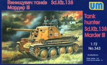Sd. Kfz. 138 Marder III · UM 343 ·  Unimodels · 1:72