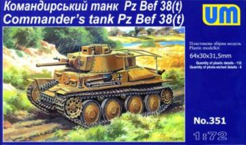 Pz Bef 38 (t) Commanders Tank · UM 351 ·  Unimodels · 1:72