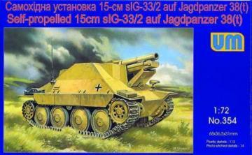 Self-propelled 15cm sIG-33/2 auf Jagdpanzer 38(t) · UM 354 ·  Unimodels · 1:72