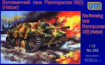 Flammpanzer 38(t) Hetzer · UM 355 ·  Unimodels · 1:72